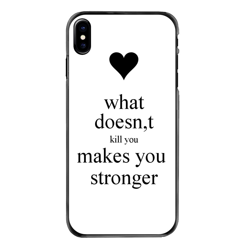 what doesn't kill you Phrases Print Hard Phone Bag Case For Sony Xperia X XA XZ M2 M4 M5 C3 C4 C5 T3 E4 E5 Z Z1 Z2 Z3 Z5 Compact image
