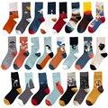 Instime/1 пара носков унисекс с рисунком; Женские уличные носки для скейтборда; Спортивные дизайнерские носки для велоспорта; Хлопковые носки; Р...