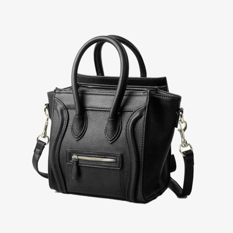 Smiley Face Genuine Leather Bags For Women Crossbody Messenger Bags Tote Shoulder Handbag Famous Luxury Brand Designer Feminina