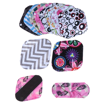 20*18cm Women Reusable Cloth Menstrual Pads Organic Bamboo Inner Mama Pads Pantyliner For Light Flow Days New image