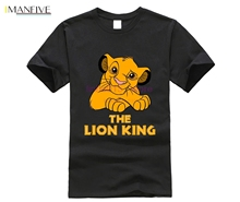 The Lion King Mens T-Shirt - Giant Cartoon Cast Group Image  t shirt men Unisex New Fashion tshirt free shipping funny