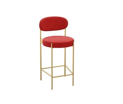 Tea Shop Bar Chair Nordic Home High Chair Net Red Gold Casual Bar Bench