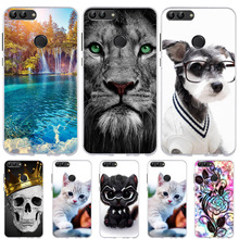 Huawei P Smart Case Cute Cat Dog Animal Cover Enjoy 7S Silicone Funda Coque Psmart Phone Cases