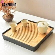 CAKEHOUD китайский чайный набор кунг-фу чайный стол, поднос для обслуживания, бамбуковый чайный поднос, блюдце для путешествий, сухой пузырьковый поднос, аксессуары для чайной церемонии