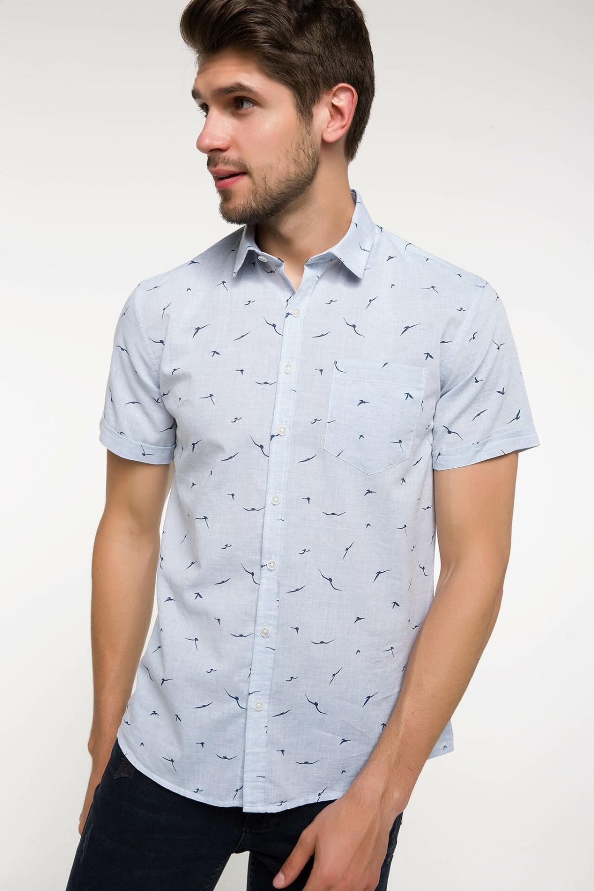 DeFacto Man Short Sleeve Shirt-I4925AZ18SM