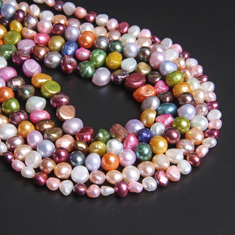 """Natural Baroque Pearls Multi Color Mixed Real Freshwater Pearl Potato Nugget Loose Perle Beads For Jewelry Making 14"""" Strand DIY"""