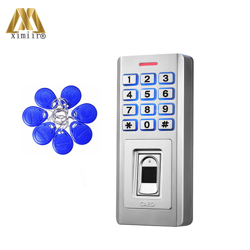 IP68 Waterproof Fingerprint Standalone Access Control Biometric Door Access Controller KF5 With 10pcs ID IC Keychain