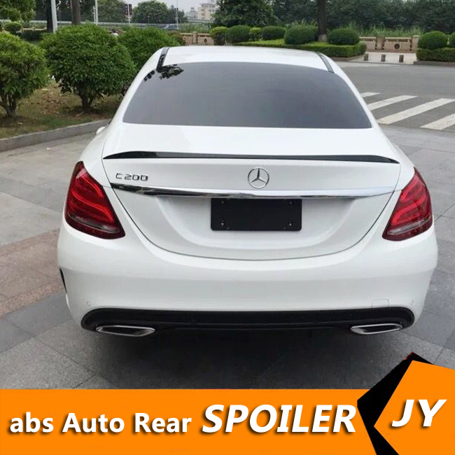 For Mercedes Benz <font><b>W205</b></font> <font><b>Spoiler</b></font> 2016-2018 C-class C180 C200L C63 <font><b>Spoiler</b></font> High Quality ABS Car Rear Wing <font><b>Spoiler</b></font> image