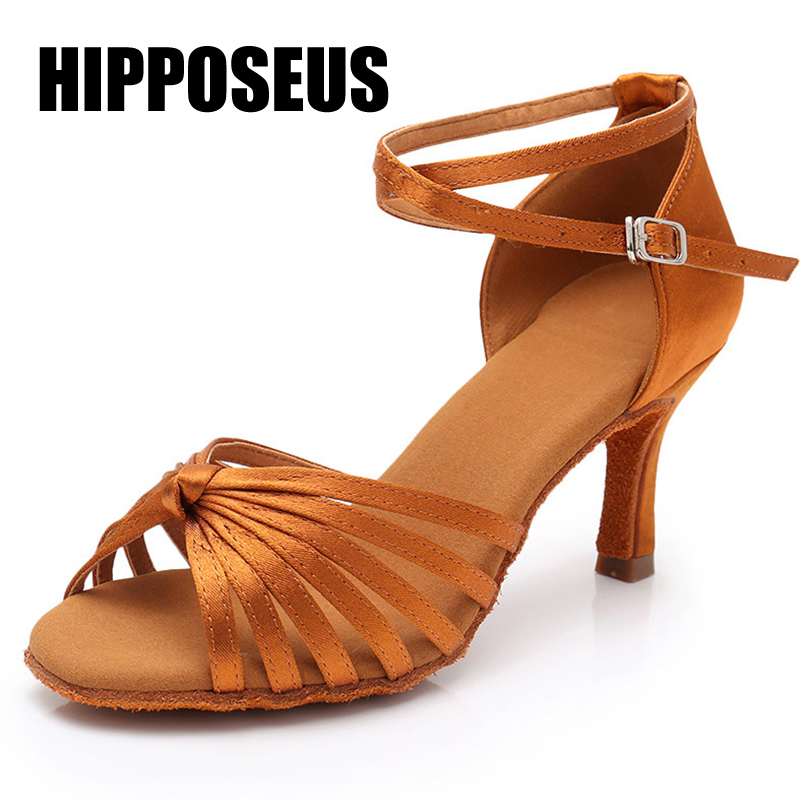Women Ballroom Dance Shoes Girls Latin Modern Tango Salsa Dance Shoes Ladies High Heel Soft Bottom Dance Shoes Hot Selling Black