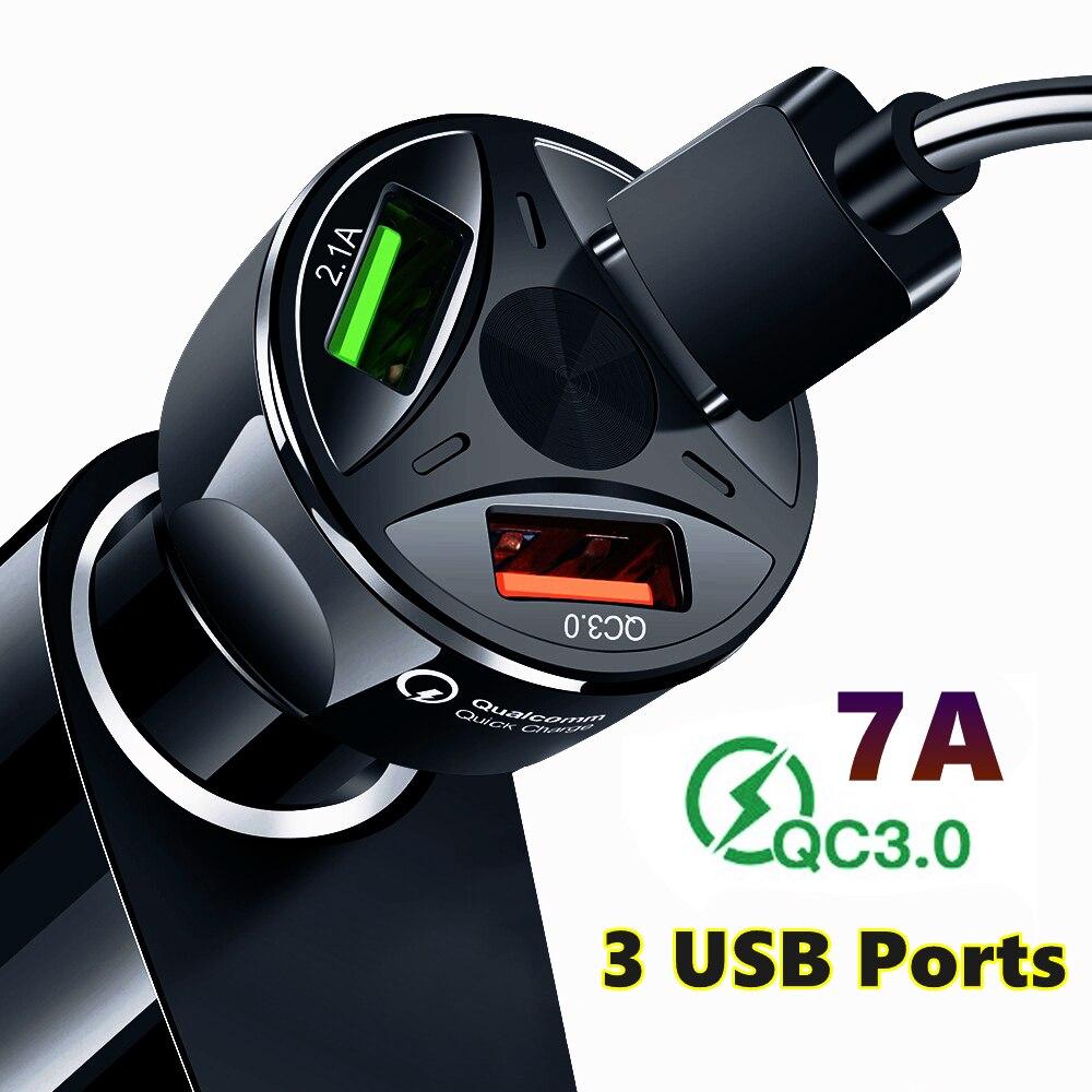 Auto Ladegerät USB Quick Charge QC 3,0 Ports Auto Zigarette Leichter Adapter für iPhone Samsung Huawei Xiaomi QC Auto Telefon lade