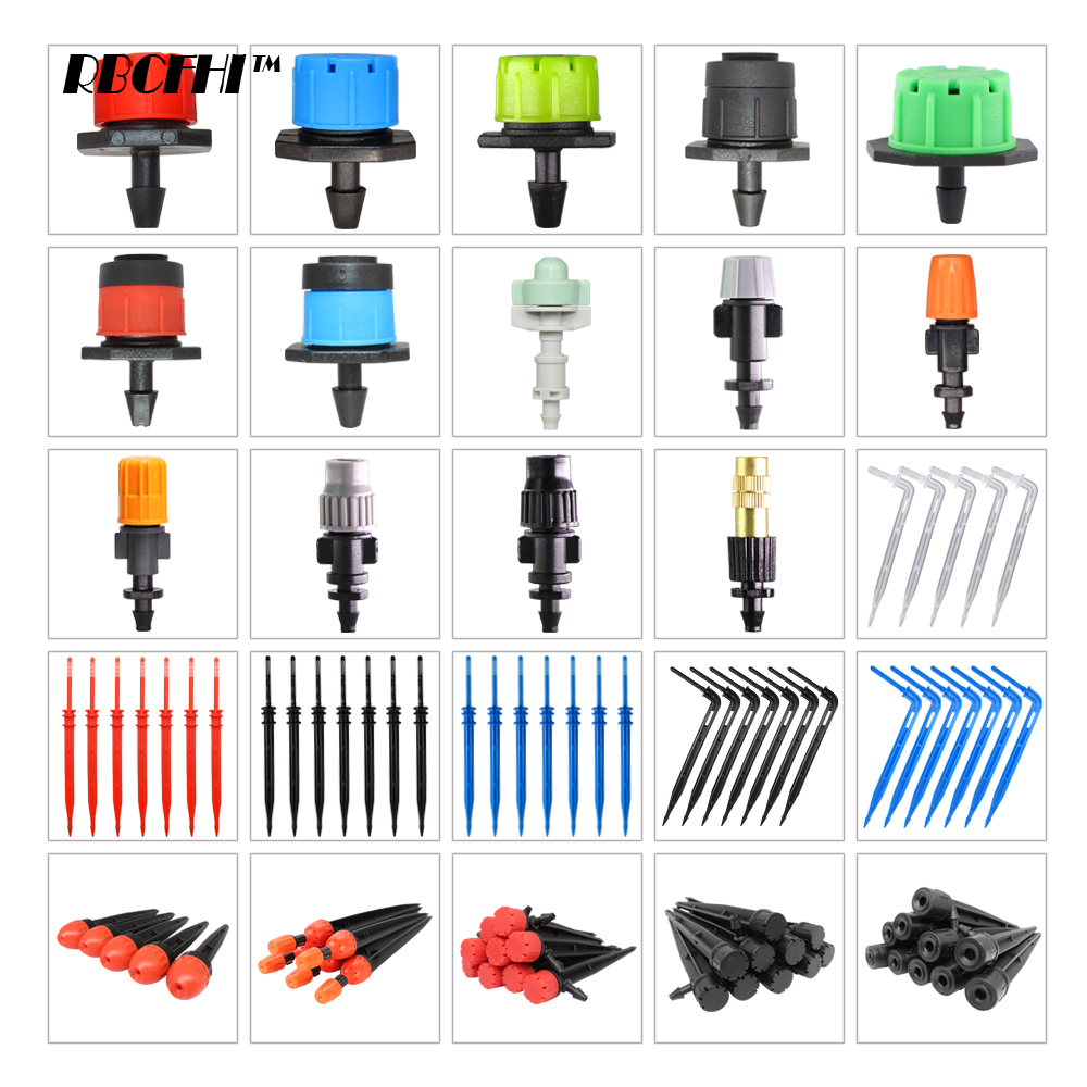 RBCFHI Variety Style Garden Drip Irrigation Hose Connector Spray Sprinkler Emitters Stake Dripper Rotating Nozzle Watering Arrow
