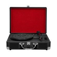 Phonographe Portable Vintage 33/45/78RPM, platines en vinyle, enregistrement LP, lecteur Phono, Gramophone, haut-parleur intégré, prise ue