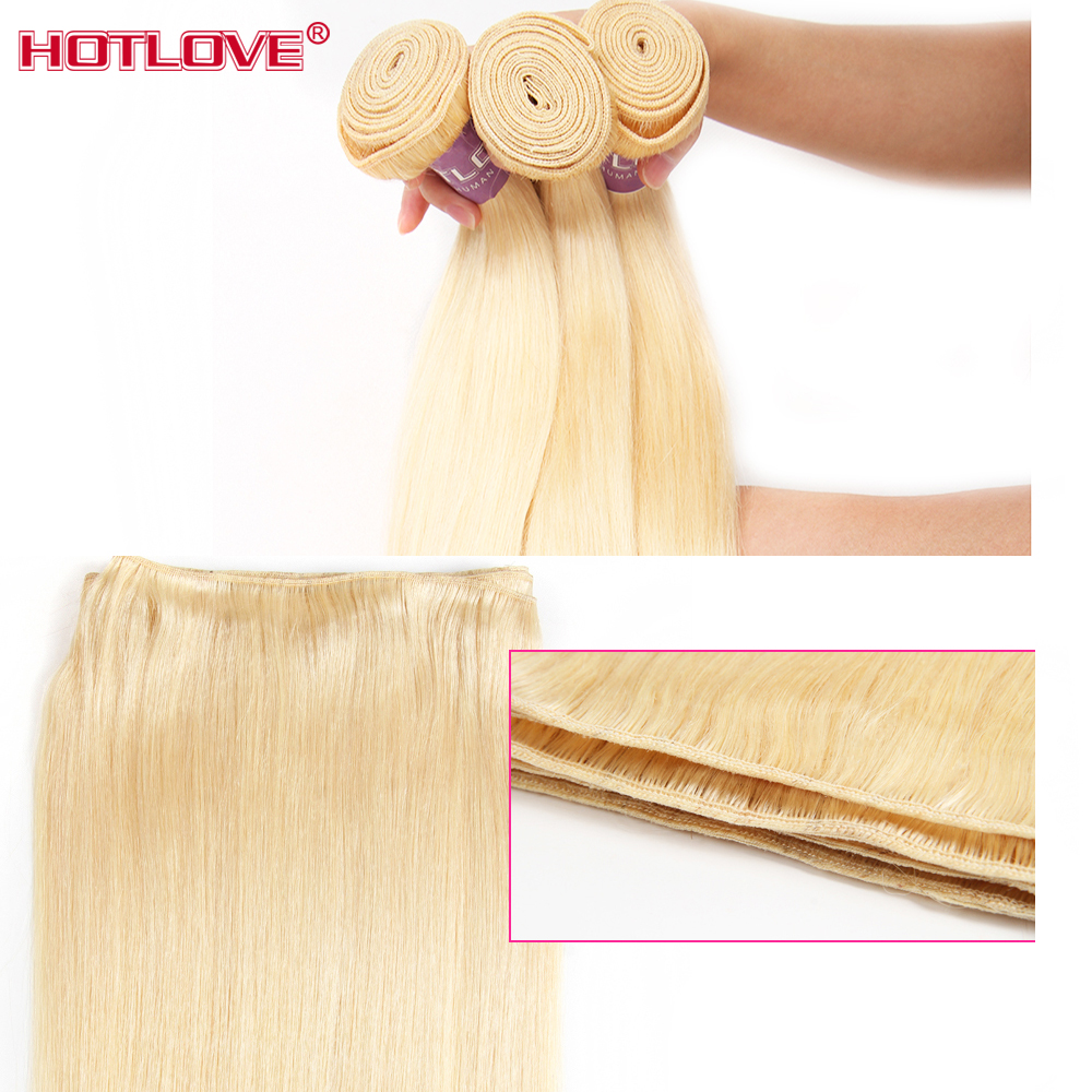 613-Blonde-Straight-Hair-2-Bundles-with-Lace-Frontal-Closure-with-Baby-Hair-Malaysian-Honey-Blonde