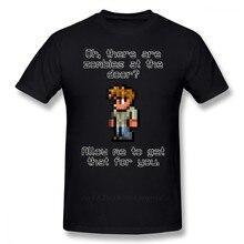 Terraria T-shirt Gids Houdt Zombies T-shirt Leuke Print Tee Shirt Mannen Korte Mouwen Streetwear Katoen Tshirt