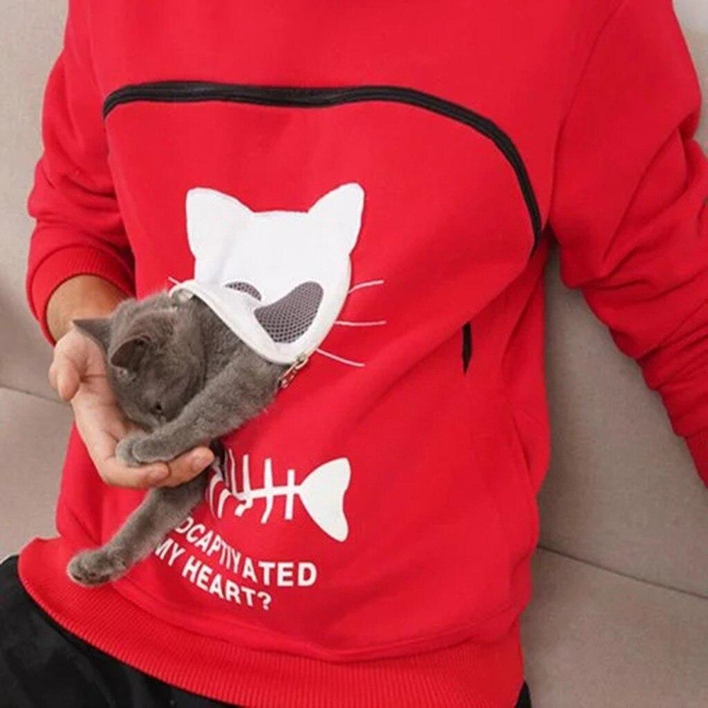 Autumn Winter Hoodie Cat Dog Pet Lovers Pullovers Loose Sweatshirt Pocket Animal Ear Hooded Tops Female Casual толстовка