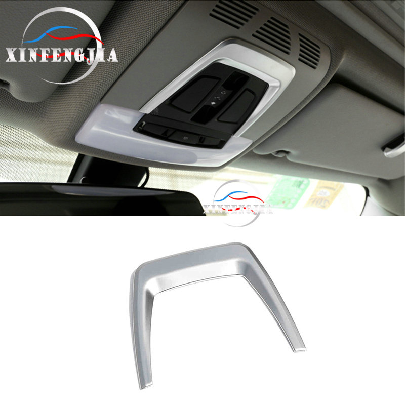 For BMW X5 F15 Stainless Interior Roof Front Reading Light Cover Trim  2014-2018
