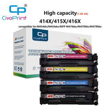 Civoprint Compatible Toner Cartridge for HP 414A 415A 416A LaserJet Pro M454dn M454dw MFP M479dw  M479fdn (NO CHIP)) compatible for 312x 312a cf380x cf380a cf381a cf382a cf383a 4 pack kcmy toner cartridge for hp color laserjet pro m476dn mfp