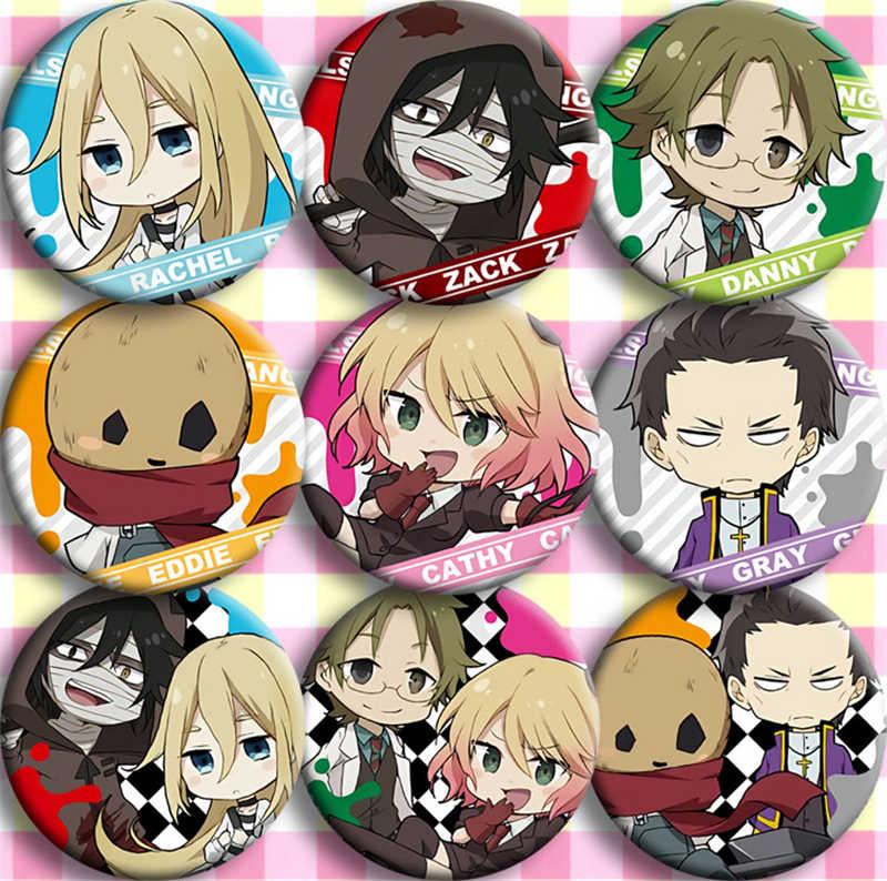 9 個日本アニメ天使死コスプレバッジ漫画のブローチピンコレクションのためのバッジのバックパックバッグボタンハロウィンギフト