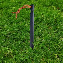 1 Pcs 18cm Aluminum Tent Stake With Rope Outdoor Nail Peg Accessories Equipment For Camping Hiking Activities