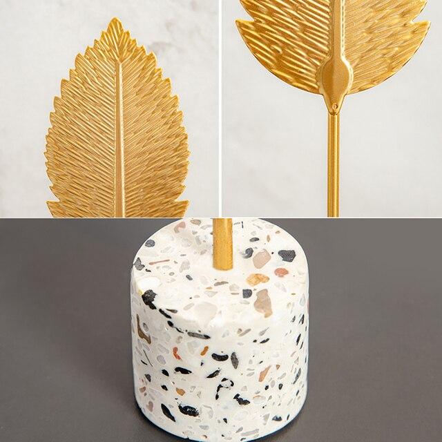 Europen Leaf Model sculpture resin craft vintage home decor Modern Vintage Abstract Statue Office Desk Decoration Ornaments Gift 6