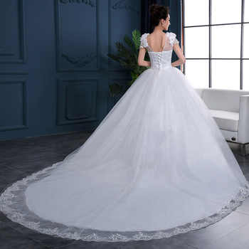Cheap 2019 New Fashion Luxury High-end sleeved Wedding Dresses 2019 With lace Beads Fashion Bridal Gown Vestidos De Noiva - DISCOUNT ITEM  40% OFF All Category