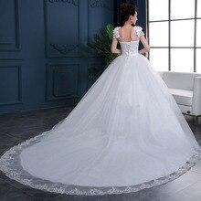 Barato 2020 nueva moda De lujo De gama alta De manga Vestidos De novia 2020 con cuentas De encaje vestido De novia a la moda Vestidos De novia