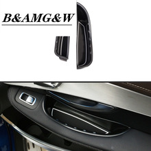 цена на 2pcs For Mercedes Benz C-Class W205 GLC Class X253 2015-2019 Car Door Handle Storage Box Tray Accessories For Left Hand Drive