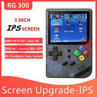 Portable RG 300 Video Games Emulators Consola 3000 RETRO GAMES PS1 RETRO GAME 300 RG300 Double system Handheld Retro IPS Screen