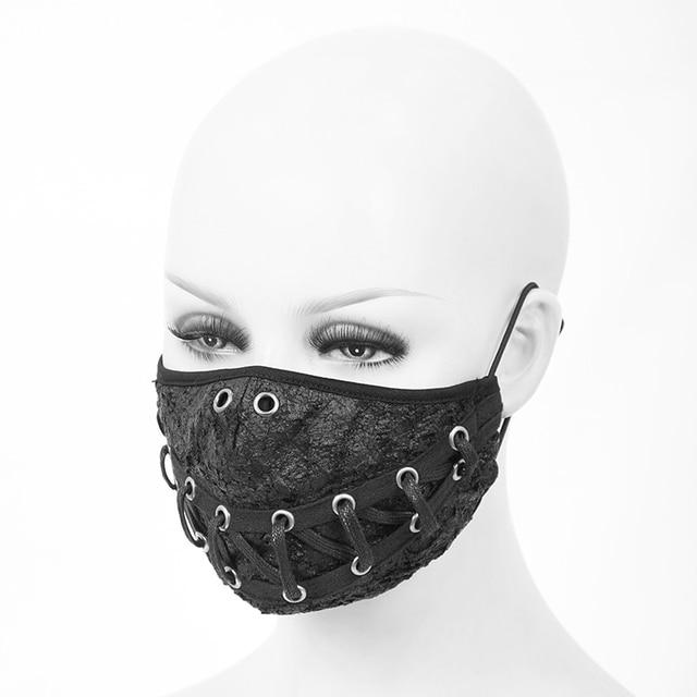 Devil Fashion Steampunk Men And Women Black Rivet Mask Anti dust Cosplay Party Mask Adjustable Earhook Halloween Mask