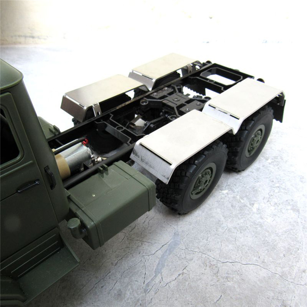 Um par de metal lama traseira fender para trás paralama para 1/16 wpl b16 b36 6wd jjrc q60 q63 q64 rc caminhão do carro atualizar peças