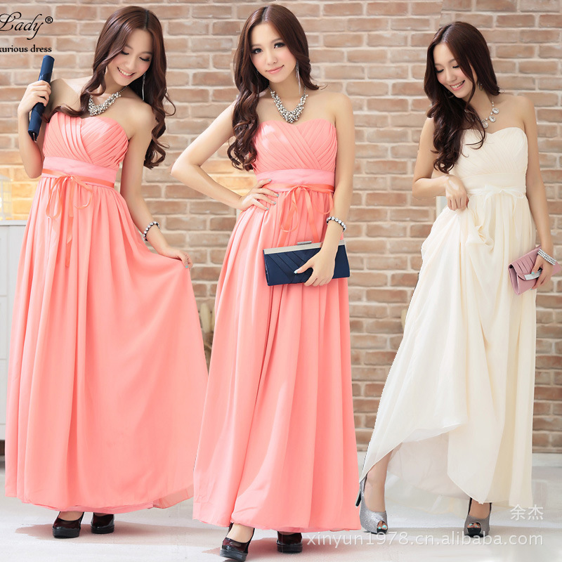 Agent Sweet Breast Fold Wrap-around Formal Dress Long Skirts Dress Late Formal Dress 2292 New Multi-color