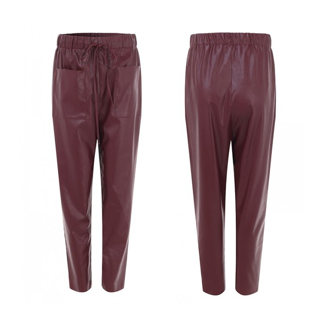 Women's PU Leather Trousers 5