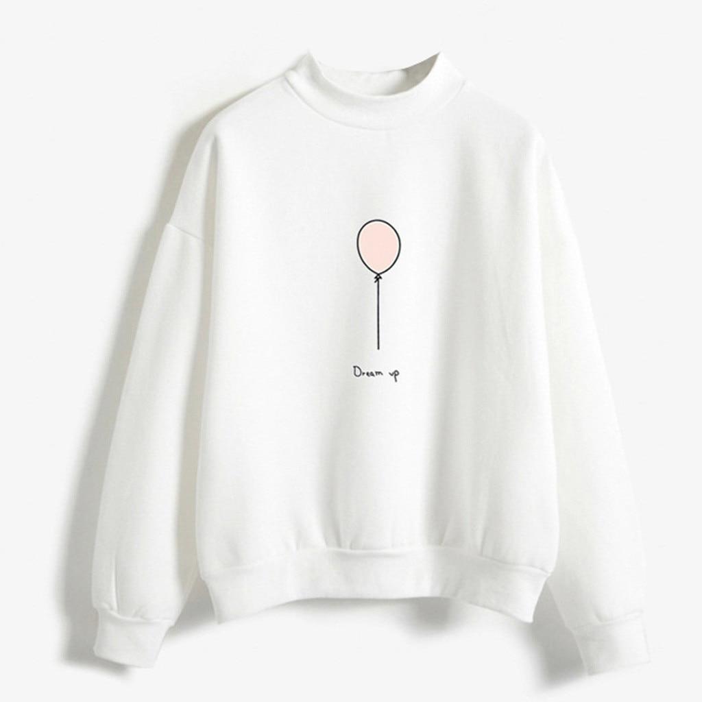 Women O-Neck Solid Color Balloon Pattern Long Sleeve Plus Velvet Sweatshirt oversize sweatshirt women chemisier femme nouvelle