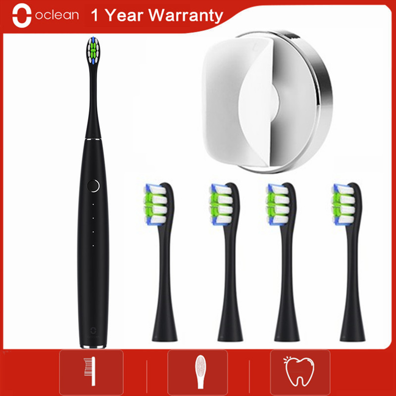Oclean One Electric Toothbrush Set With 4 Brush Heads Wall-Mounted Holder APP Control Waterproof Fast Charging Tooth Brush
