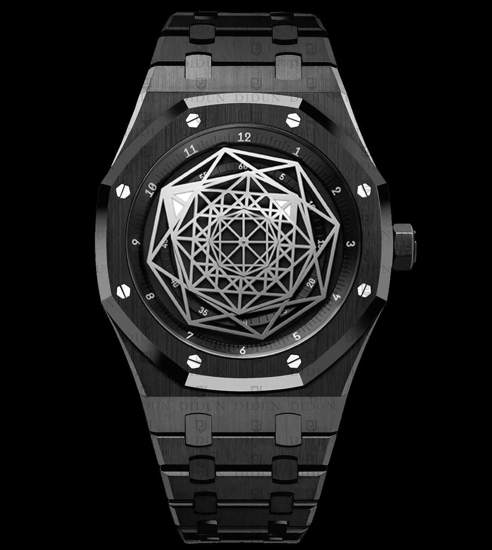 Didun assista men marca superior luxo grande bang aço inoxidável masculino relógios luminosos mãos dos homens relógio de pulso quartzo 30m à prova dwaterproof água 2019