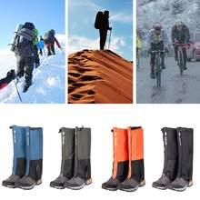 Unisex à prova dunisex água perna cobre legging gaiter escalada acampamento caminhadas ski bota sapato de viagem neve polainas pernas proteção para snowsh