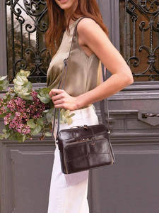 Cobbler Legend Женская однотонная сумка с несколькими карманами и держатель для карт, повседневная сумка через плечо из натуральной кожи, дизайне...