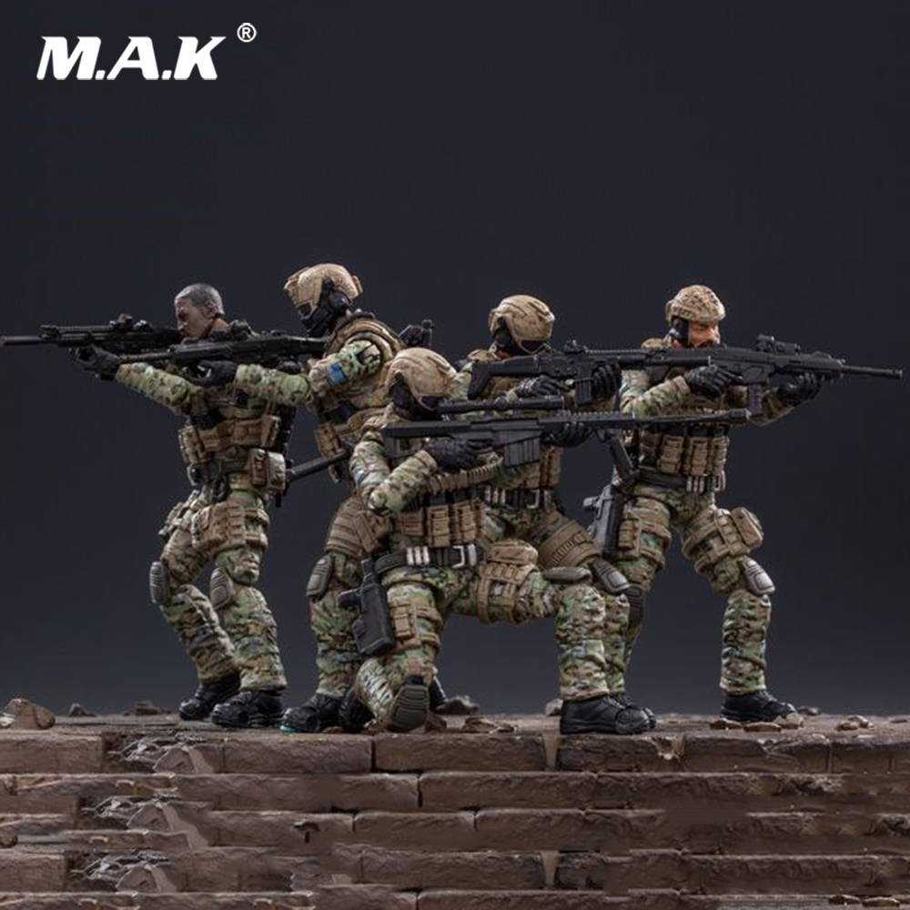 JTUS004 Mini Soldier <font><b>1</b></font>/<font><b>18</b></font> US Army Cavalry Regiment Action Soldier 5 <font><b>Figures</b></font> Model Toys for Fans Collection Gifts image