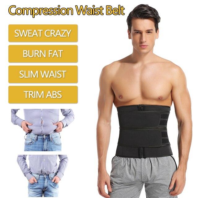 Men Waist Trainer Corset Sauna Sweat Sports Girdles Gym Fitness Modeling Strap Slimming Shaper Workout Trimmer Belt Shapewear 2