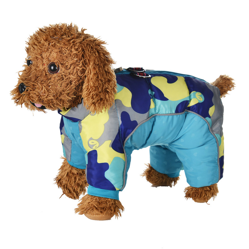 Reflective and Warm Dog Jacket and Waterproof Winter Dog Clothing with Strong Zipper and D-Ring 12