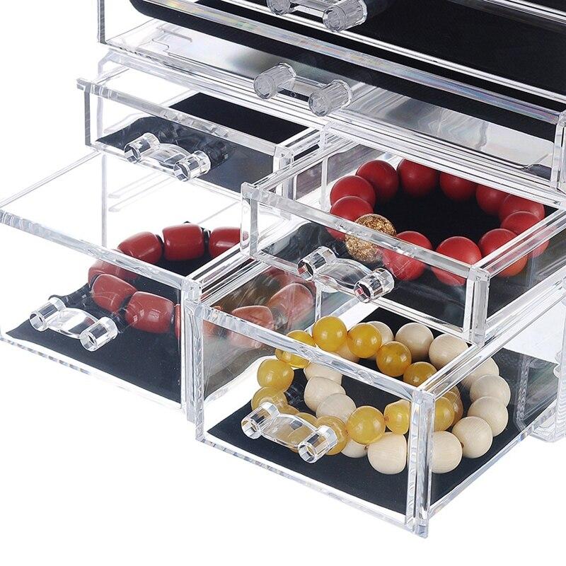 AFBC nuevo organizador de maquillaje acrílico transparente caja de almacenamiento de gran capacidad soporte de lápiz labial cajones organizador de maquillaje cepillo de herramientas cosméticas - 5