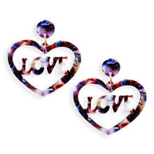 Oorbellen New heart-shaped resin earrings letter LOVE earrings for woman wedding earrings hot sale gift jewelry 2020 wholesale