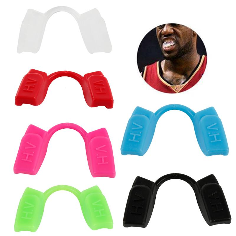 Sport Boxing Mouth Guard Silicone Dental Teeth Corrector Safety Food Grade Teeth Protector Mouth Night Anti-wear Tooth Guard 1pc