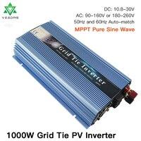 1000W On Grid Tie Inverter MPPT Micro solar inverter converter 10.8 30V DC to AC 80 260V Pure Sine Wave Inverter for 1000 1200W