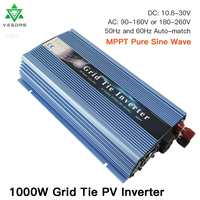 1000W On Grid Tie Inverter MPPT Micro solar inverter converter 10.8 30V DC to AC 80 260V Pure Sine Wave Inverter for 1000 1200W