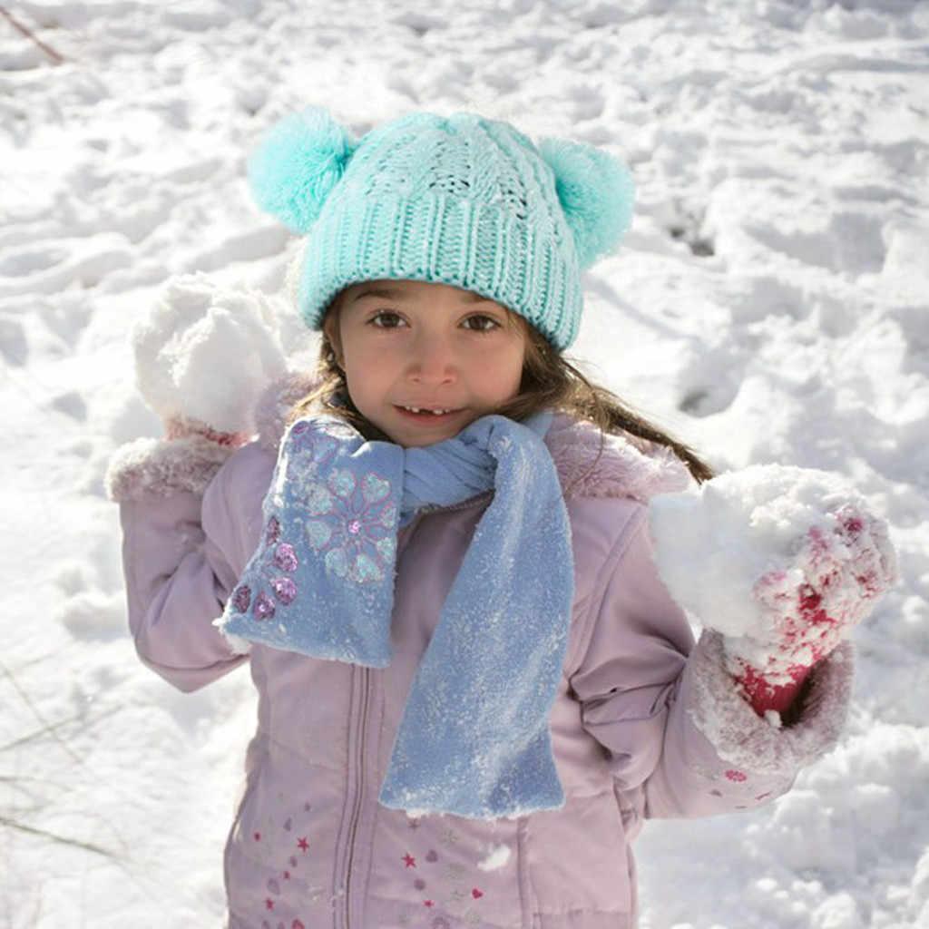 Śliczne maluch zima Pompon kapelusz dla dzieci dziewczyny chłopcy niemowlę ciepła zimowa czapka szydełkowana czapka czapka noworodka fotografia rekwizyty