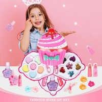 Neue Pretend Spielen Mädchen Mode Kit Sicher ungiftig Spielzeug Make-Up Set Vorschule Kinder Schönheit Sicherheit Spielzeug für Kinder mädchen Make-Up Geschenk