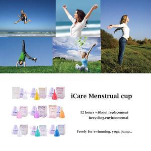 Image 4 - 100 Pcs Cute Wholesale Reusable Medical Grade Silicone Menstrual Cup Feminine Hygiene Product Lady Menstruation Copo BMC01PK