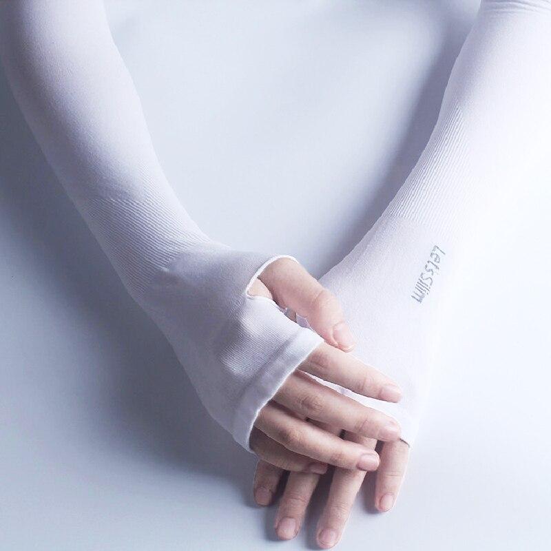 New Summer Outdoor Sun UV Protection Women Man Arm Sleeves Cuff Cycle Cool Sport Long Tatoo Ice Silk Gloves Slip On Tattoo Manga