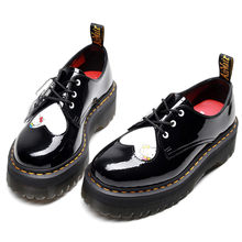 Martens Women Ankle Boots Thick Bottom Platform Shoes Genuine Leather Spring Autumn Cartoon Shoes for Women Motorcycle Boots